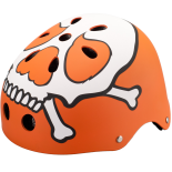 Casca de Protectie Streetrunner® Stunt Resistance ABS Orange Skull, marime universala