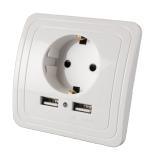 Priza incastrabila ecoLite cu doua iesiri USB, 1500 mA