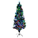 Brad fibra optica Holly, lumina multicolora, 180 cm