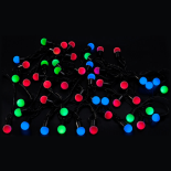 Instalatie 50 LED-uriI globulare Holly, multicolor