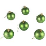 Set 6 globuri mate Holly, verde, diam. 6 cm