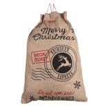 Saculet Holly pentru cadouri 58x69cm, cu mesaj Black Reindeer