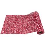 Runner de masa festiv Holly, rosu cu spirale, 28cm x 2.75m