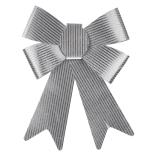Funda pastelata Holly, cu striatii, argintiu, 22 x 17 cm