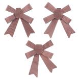 Set 3 fundite Holly pastelate, cu striatii, roz, 12 x 10 cm