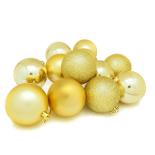 Set 12 globuri Holly, 8 cm, auriu