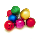 Set 10 globuri Holly, 8 cm, multicolor