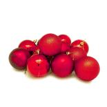 Set 12 globuri Holly, 6 cm, rosu