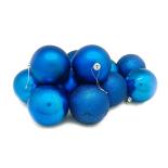 Set 12 globuri Holly, 6 cm, albastru