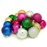 Set 24 globuri Holly, 6 cm, multicolor