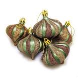Set Holly, 6 globuri, 6 cm, peacock green