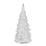 Ornament Holly bradut cu LED multicolor 12x6 cm