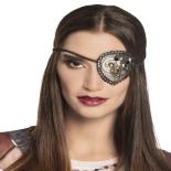 Eyepatch Eventy Steampunk argintiu 8x8cm