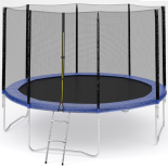 Trambulina ACTION® High Quality 427 cm cu plasa de protectie si scara