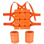 Costum ajutator inot, pentru adulti, marimea L, portocaliu