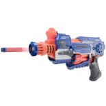 Pistol electric semi-automat pentru copii FIGHTER Albastru