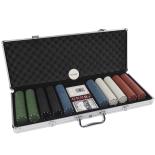 Set Poker cu 500 Jetoane (4 g) servieta aluminiu