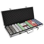 Set Poker Deluxe Master cu 500 Jetoane (11,5 g) servieta aluminiu