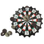Mini Joc Darts Magnetic Bottle Cap cu 10 capace magnetice, 24 cm