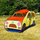Cort pentru copii King Sport, masinuta, galben, 176 x 89 x 92cm