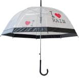 Umbrela transparenta de ploaie I Love Rain