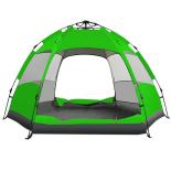 Cort Zelten® Adventure 3-5 persoane verde, 240x240x145 cm