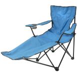 Sezlong camping Zelten albastru 115x91x88cm