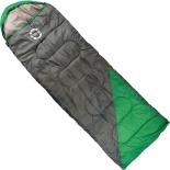 Sac de dormit Action One, impermeabil, (190+30) x 75 cm, Verde-Gri