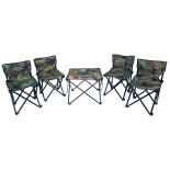 Set masa cu scaune camping 026b Action One, pliabile in geanta transport, camouflage