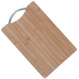 Tocator lemn Gemma cu maner metalic, 30x20 cm