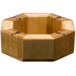 Scrumiera octagonala bambus Gemma
