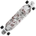 Longboard Action ONE® White Death ABEC-9, Canadian Maple, Aluminiu, 100 kg