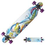 Longboard Action ONE® Octopus ABEC-9, Canadian Maple, Aluminiu, 100 kg
