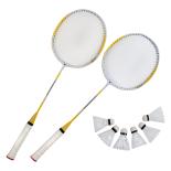 Set Badminton - Rachete aluminiu +  6 fluturasi