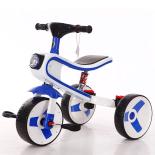Tricicleta/bicicleta Smart Kid 3 in 1 cu lumini si sunete, albastru