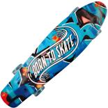 Penny Board cu roti luminoase 22, ABEC-7, PU, Aluminium, 90 KG Born to Skate