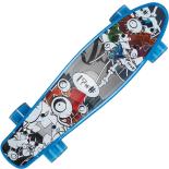 Penny Board cu roti luminoase 22, ABEC-7, PU, Aluminium truck, 90 KG Sundry