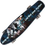 Penny Board cu roti luminoase negre 22, ABEC-7, PU, Aluminium, 90 KG Jump Up