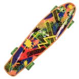 Penny Board Landsurfer cu roti luminoase, 56 cm, ABEC-7, PU, Aluminium, 90 KG Splash