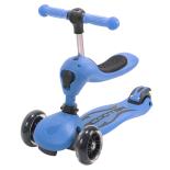 Trotineta ACTION Transformer Albastra, 2 in 1: trotineta/tricicleta