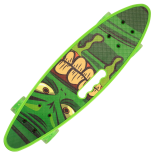 Penny board Action One® Portabil ABEC-7, PU, Aluminiu, Green Stuff