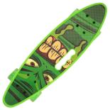 Penny board Action One® Portabil ABEC-7, PU, Aluminiu, Green Stuff