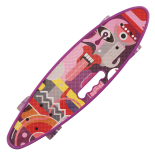 Penny board Action One® Portabil ABEC-7, PU, Aluminiu, Abstract Design