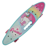Penny board Action One® Portabil ABEC-7, PU, Aluminiu, Unicorn