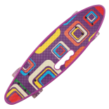 Penny board Action One® Portabil ABEC-7, PU, Aluminiu, Geometrical