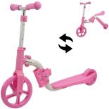 Trotineta Action One® 2 in 1 (trotineta/bicicleta), Roz