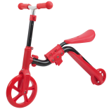 Trotineta Action One® 2 in 1 (trotineta/bicicleta), Rosu