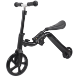 Trotineta Action One® 2 in 1 (trotineta/bicicleta), Negru