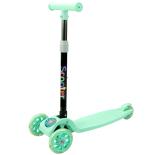 Trotineta reglabila Action One® Balance, cu roti luminoase, Verde