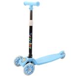 Trotineta reglabila Action One® Balance, cu roti luminoase, Albastru